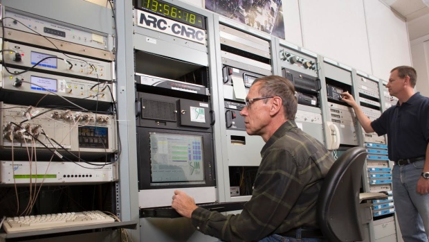 A photo of the NRC's time control room.