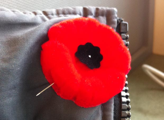 Modified method for pinning your poppy.